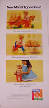 1968 MATTEL TIPPEE-TOES DOLL with HORSE & TRIKE PRINT AD - $9.99