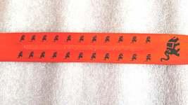 elephant sign screenprinted orange long insence holder ideal for sticks or cones image 2