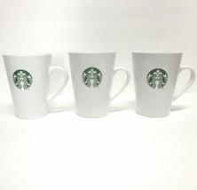 Lot Of (3) Starbucks Coffee Company 2015 Green Siren Print White 14 Oz Cups - $50.27