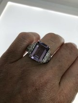 Vintage Amethyst Ring 925 Sterling Silver Size 7.5 - $148.09