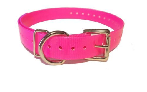 """DOGTRA 1"""" Contact Points & 3/4"""" SPC High Flex Replacement Strap - Neon Pink"""
