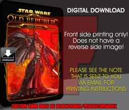 Custom Star Wars Darth Revan Digital Download Card Back V2 - $3.75