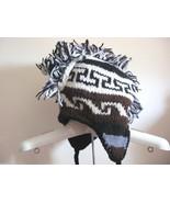 NWT Himalaya Nepal New Zealand Wool Fun Winter Mohawk Trapper Hat O/S $58 - $33.66