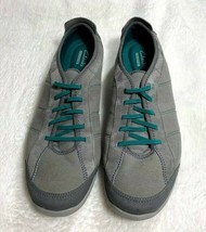 Clarks Women's Collection Elastic Lace Slip On Cushion Sneakers Shoe Sz 11W EUC - $29.70