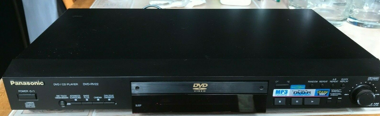 Primary image for Panasonic DVD-RV22 DVD Player With Dolby Digital DTS & Parental Lock No Remote