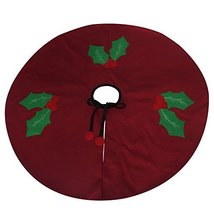 Handmade Home Decor Tree Skirt - Durable Red Xmas Tree Skirt - $24.88