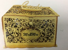 Wedding Card gold glitter Lock DIY Money Box Holder Holds 300 Cards Card... - $29.69