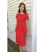 60s Red Cocktail Dress Vintage Henry Lee S M - $42.00