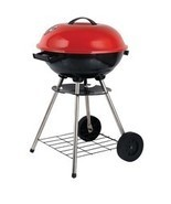 "Brentwood Appliances BB-1701 17"" Portable Charcoal BBQ Grill with Wheels - ₨2,091.39 INR"