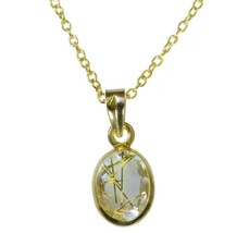classy Rutile Quartz CZ Gold Plated Multi Pendant genuine general US gift - $9.89