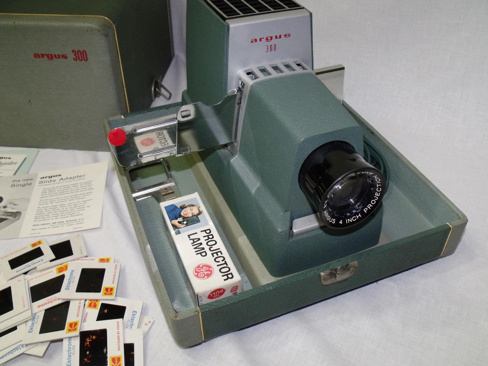 vintage argus 300 model iii slide projector and 24 similar items rh bonanza com Crestline 500 Slide Projector Argus 500 Slide Projector Bulb