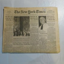 The New York Times March 15 1994 Webster Hubbell Clinton Al Gore TB Test... - $39.99