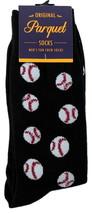 Baseballs Mens Novelty Black Crew Socks Casual Cotton Blend Fun Sports F... - $12.95