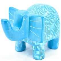 Vaneal Group Hand Crafted Carved Soapstone Large Heavy Blue Elephant Sculpture image 2