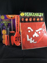 Halloween Jack-o-Lantern Pumpkin Carving Kit And Tools Decorating Lot - £5.15 GBP