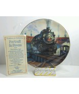 Authentic Portrait in Steam from Golden Age American Railroads Plate Col... - $19.59