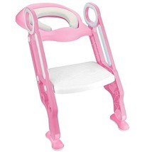 Luchild Potty Trainer Seat Adjustable Baby Potty Toilet Ladder Seat with... - $37.92