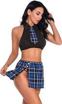 Oliveya School Girl Lingerie Set Sexy Uniform Set Role Play Mini Plaid Skirt image 6