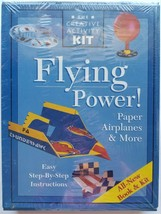 NEW Flying Power! Paper Airplanes & More Book & Activity Kit Step-By-Ste... - $10.88
