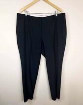 Talbots 18W Heritage Wool Blend Dress Pants Black Womens Career Work - $24.99