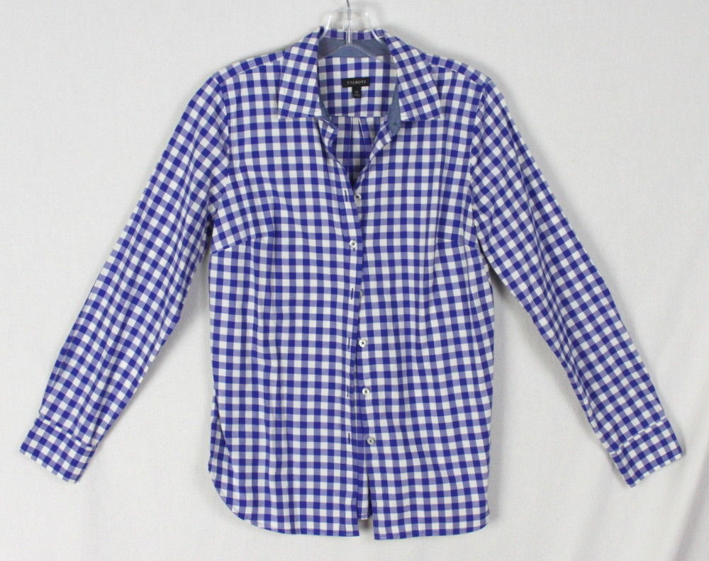 a746ef7144f757 Talbots blouse xs size Blue White Check and 50 similar items. 57