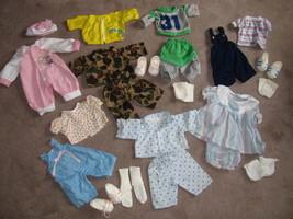 Cabbage Patch Kid Doll Clothes plus Shoes Lot. Fifteen Plus Pieces. - $30.00