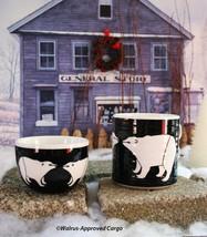ANTHROPOLOGIE POLAR BEAR MUG & BOWL -NIB- GIVE BLAH SERVEWARE THE COLD S... - $49.95