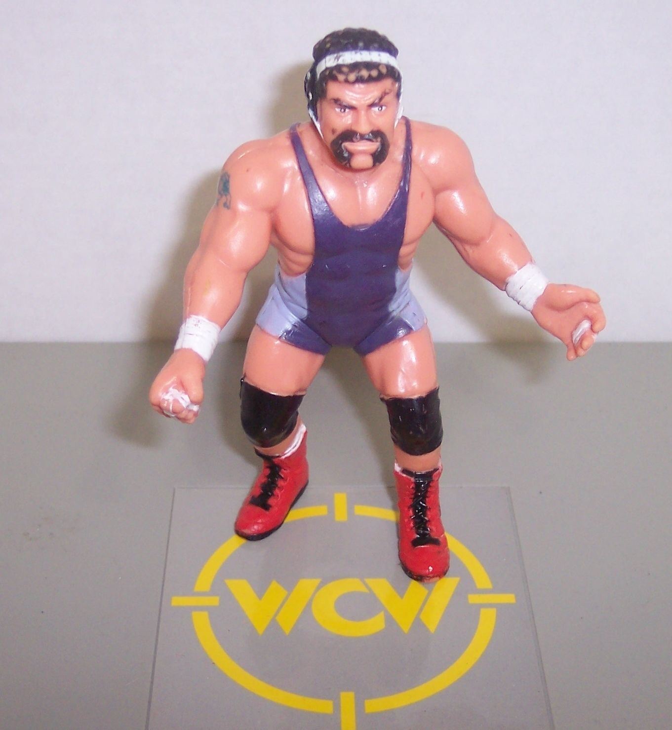 "Primary image for Vintage 1990 Galoob WCW ""Rick Steiner"" 4.5"" Action Figure WWF WWE {268}"