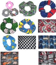 NASCAR Checkered Flag Racing Fabric Hair Scrunchies by Sherry  - $24.79+