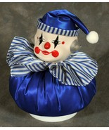 Clown Music Box Royal with a Blue Silk Body  and a Ceramic Head - $4.99