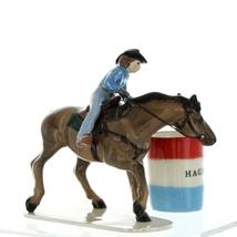 Hagen Renaker Horse Rodeo Barrel Racer Ceramic Figurine image 1