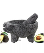 PIG Molcajete Mortar & Pestle For Salsas & Spices From Mexico Handmade New - $59.95