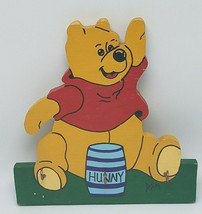 Vintage Folk Art Hand Painted Winnie the Pooh Key Hanger Handmade - $25.95