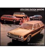 1978 Ford Station Wagon Brochure LTD Fairmont Squire - $8.59