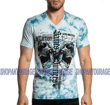 Affliction Angel City A20404 Short Sleeve Fashion Graphic V-neck T-shirt For Men - $49.90+