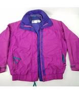 Columbia Womens Vintage Jacket Radial Sleeve Zip Jacket Pink Purple Coat - $34.42