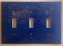 Batman Batmobile Car Blueprint Light Switch Outlet wall Cover Plate Home Decor image 4