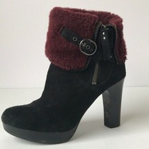 UGG Australia Womens Scarlett Exposed Shearling Buckle Ankle Boot US6 UK... - $69.81