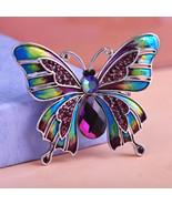 Variation #1359 of Vintage Jewelry Large Enamel Esmaltes Butterfly Brooc... - $19.39
