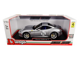 Ferrari California T Hot Rod Silver #14 70th Anniversary 1/18 Diecast Model Car  - $69.14