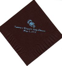 BABY RATTLE LOGO 50 Personalized printed cocktail beverage napkins image 8