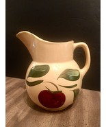 "Vintage WATT Pottery APPLE  3 Leaf Pattern PITCHER ~ #16 ~ 7"" inch - $37.83"