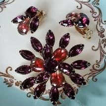 Vintage Amethyst Flower Brooch - $32.67