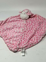 "Angel Dear Lovey Plush Giraffe Pink White Soft Security Blanket 10"" x 10"" - $12.00"