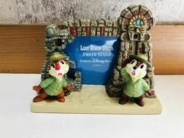 Tokyo Disney Sea Lost River Delta Chip & Dale f Figure Photo Frame Photo Stand  - $58.41