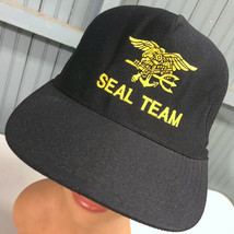 Navy Seal Team VTG Black Eagle's Crest USA Authentic Snapback Baseball C... - $18.35