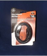 GE Video Cable with RCA Plugs 6ft  - New - AV23255 - $4.74