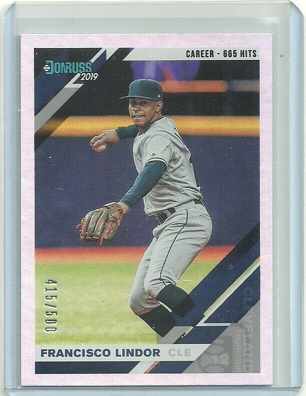 2019 DONRUSS CAREER STATE LINE #68 FRANCISCO LINDOR 415/500 INDIAN FREE SHIPPING