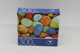 NEW 300 Piece Jigsaw Puzzle Cardinal Sealed 14 x 11, Colorful Sea Pebbles - $4.45