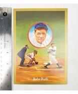 Babe Ruth Souvenir Card Dick Perez Art Leaf Donruss  Rare  - $9.95